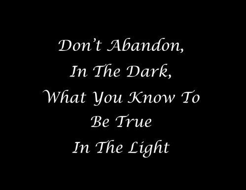 Dont Abandon In The Dark